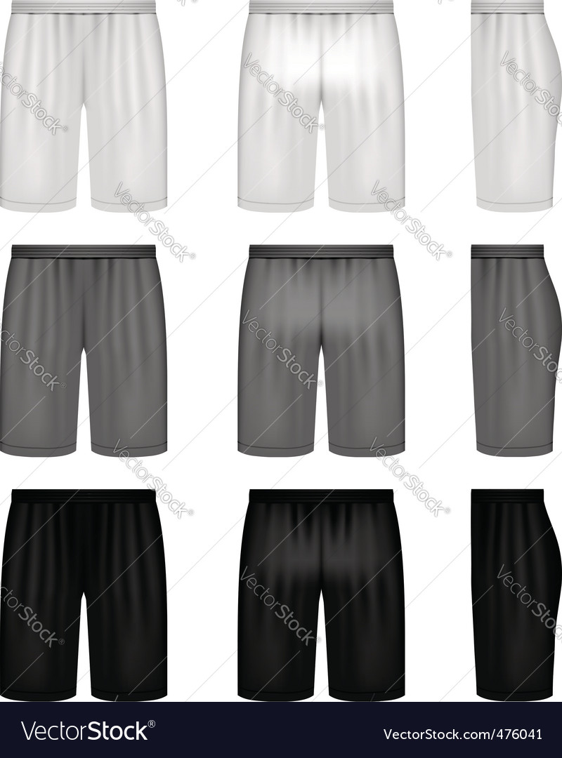 shorts shades of gray vector | Price: 1 Credit (USD $1)