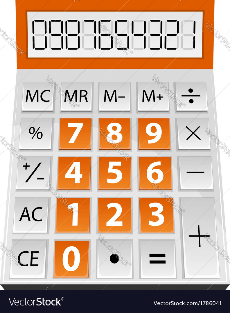 Simple calculator vector | Price: 1 Credit (USD $1)