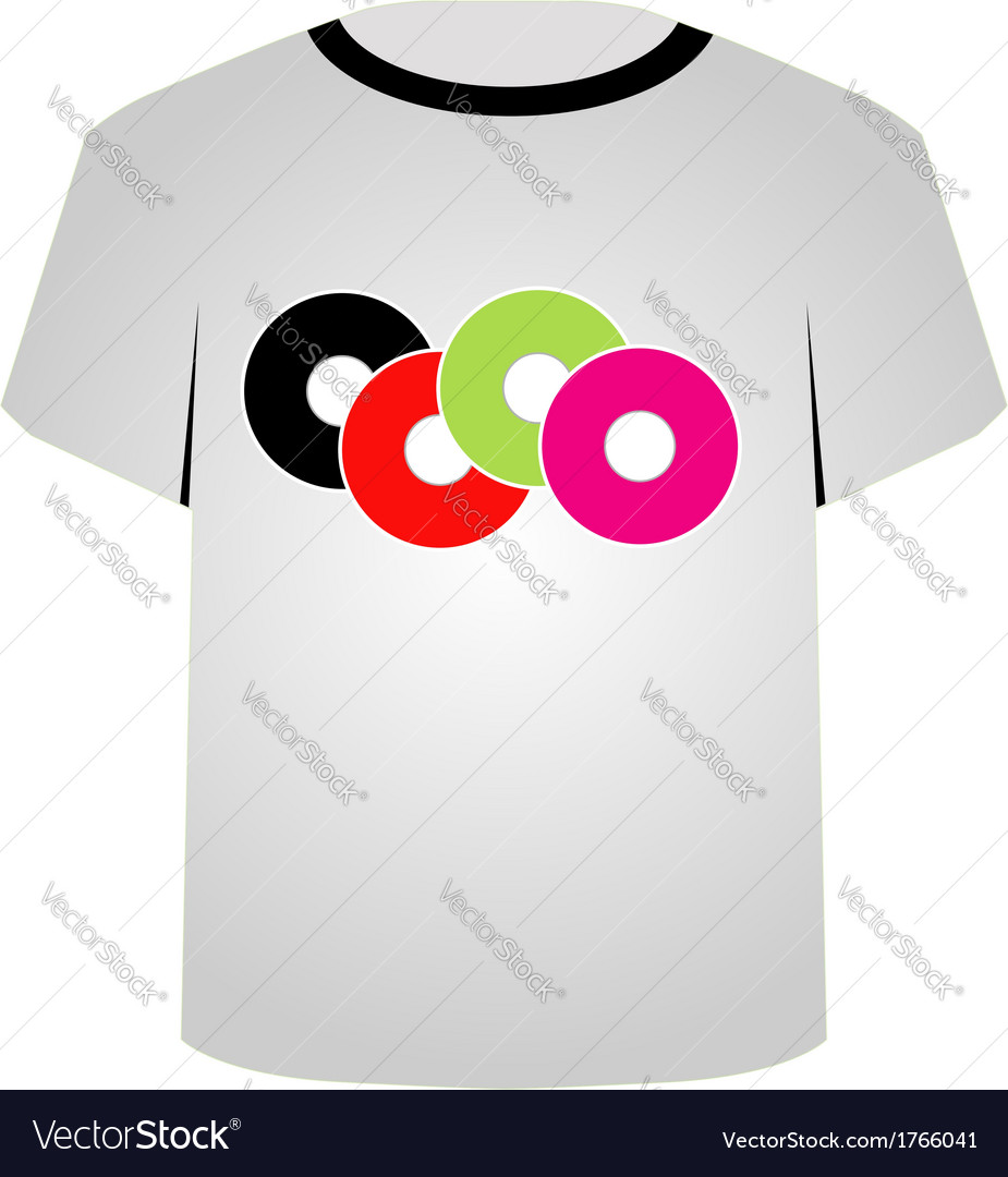 T shirt template- music cds vector | Price: 1 Credit (USD $1)