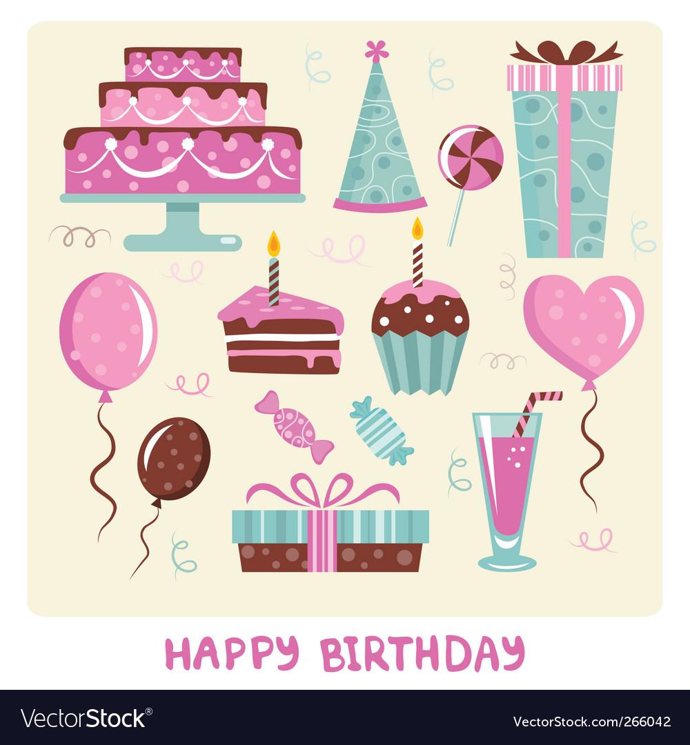 Birthday cakes vector | Price: 1 Credit (USD $1)
