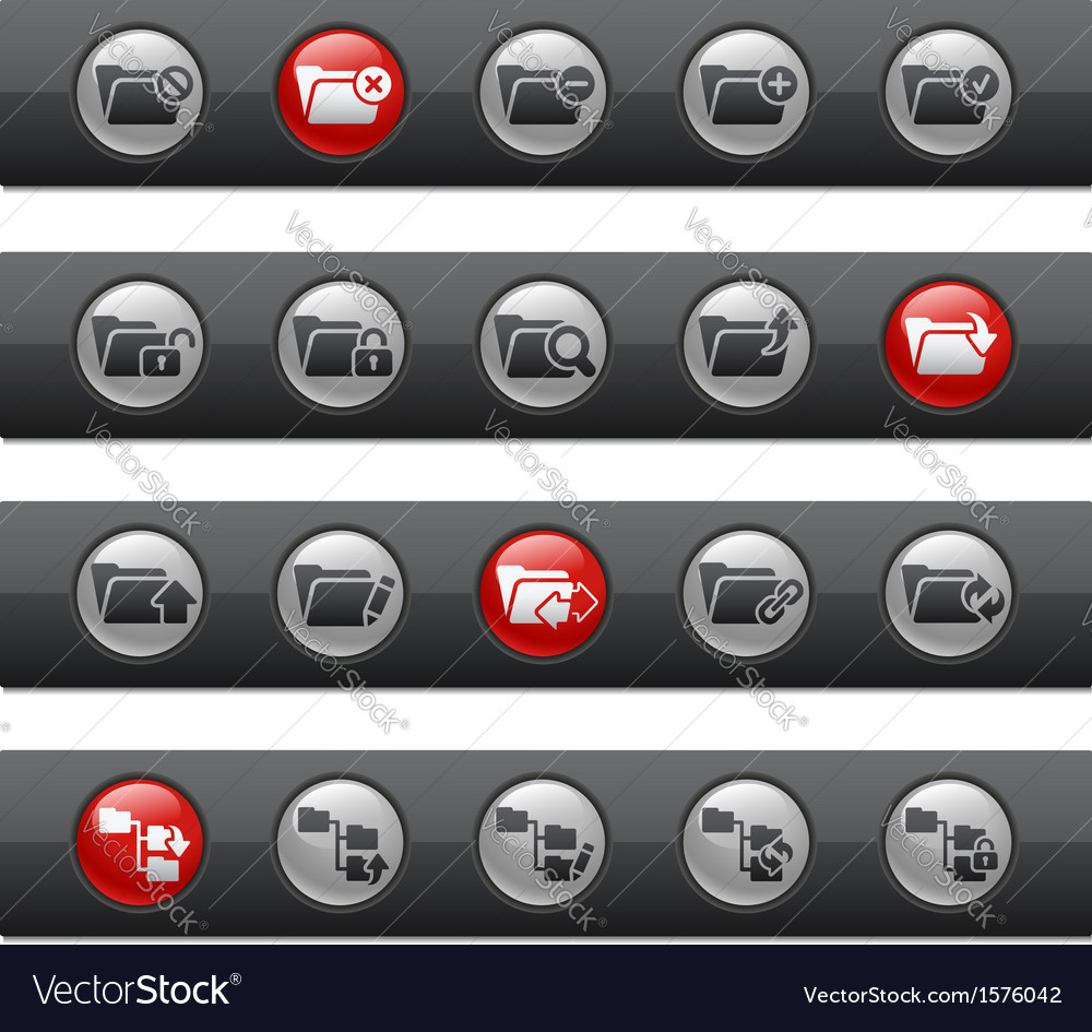 Folder 1 buttons vector | Price: 1 Credit (USD $1)