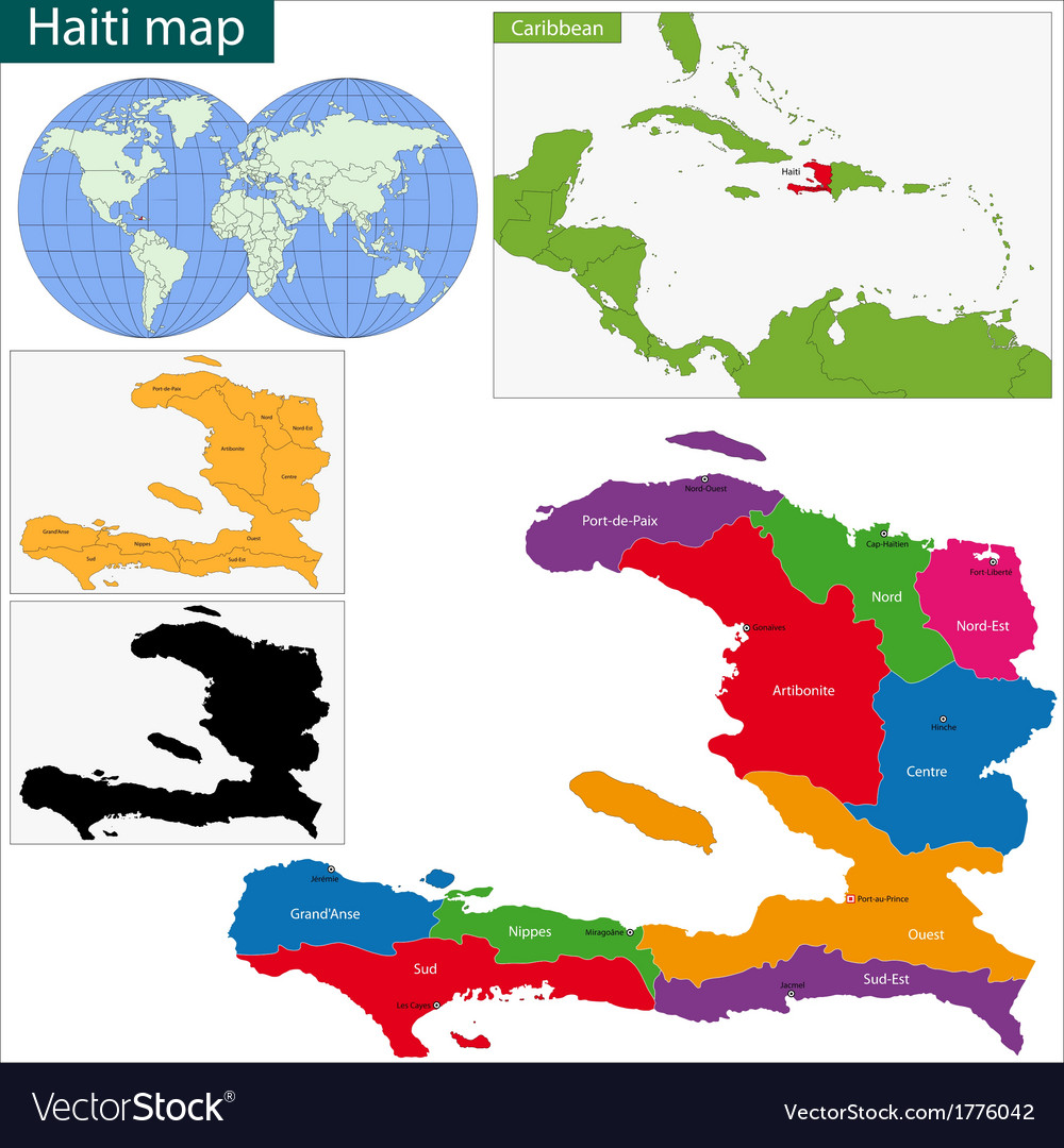 Guatemala map vector | Price: 1 Credit (USD $1)