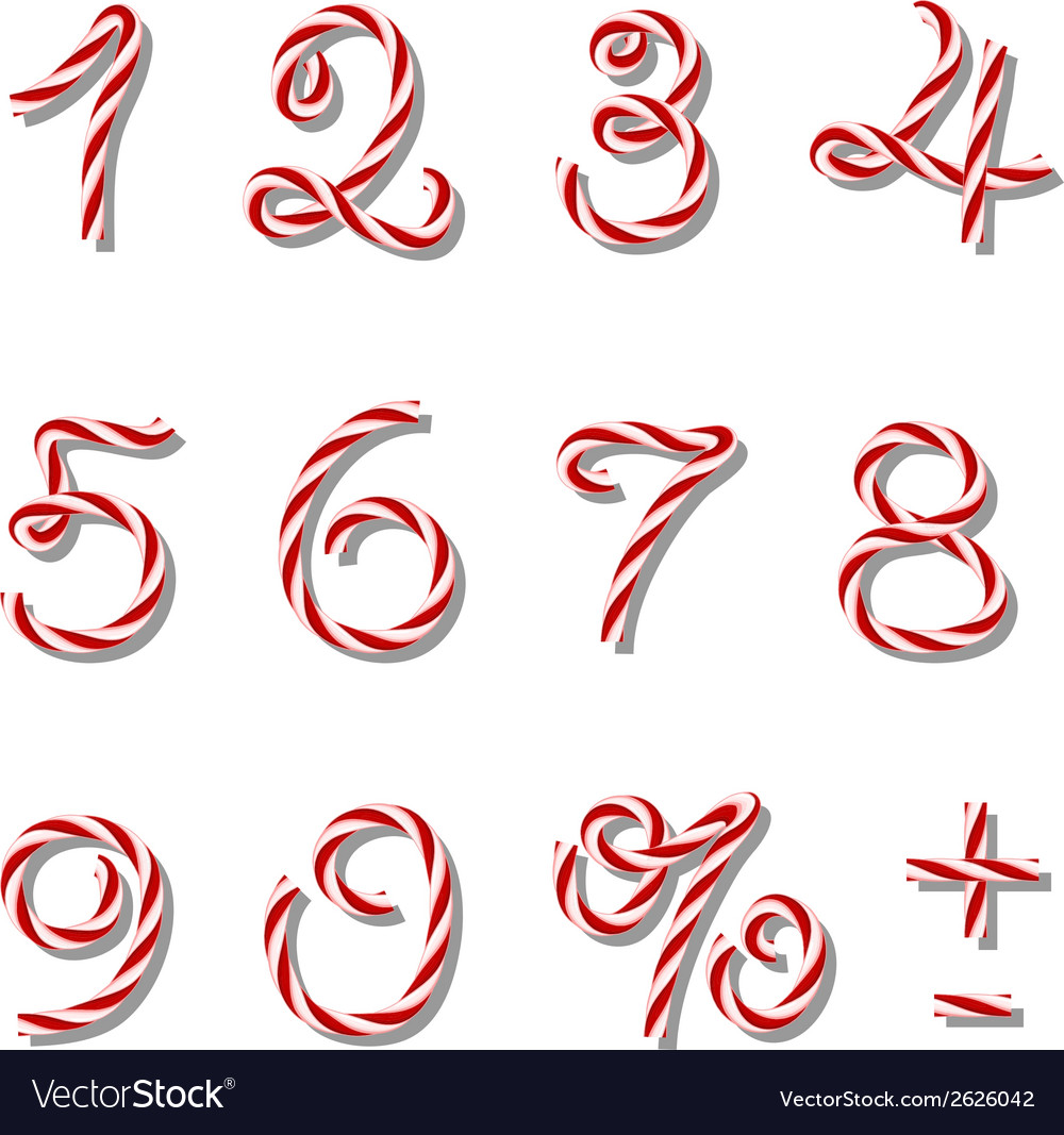 Numbers set in twine style vector | Price: 1 Credit (USD $1)