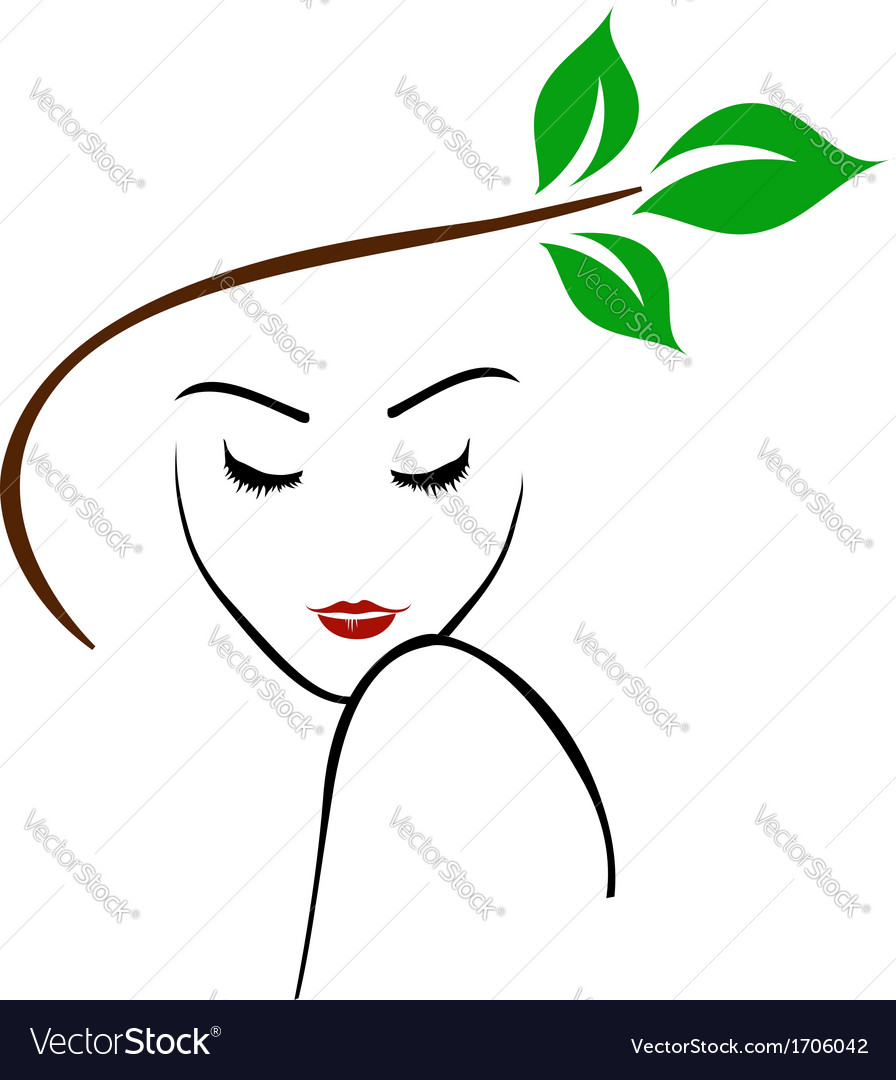 Organic beauty logo vector | Price: 1 Credit (USD $1)