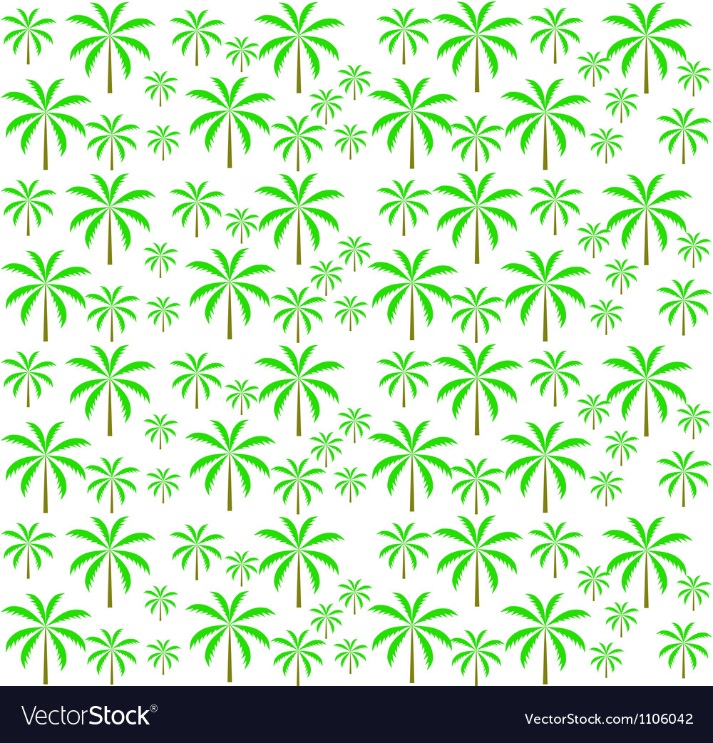 Palm trees seamless pattern  eps 10 vector | Price: 1 Credit (USD $1)