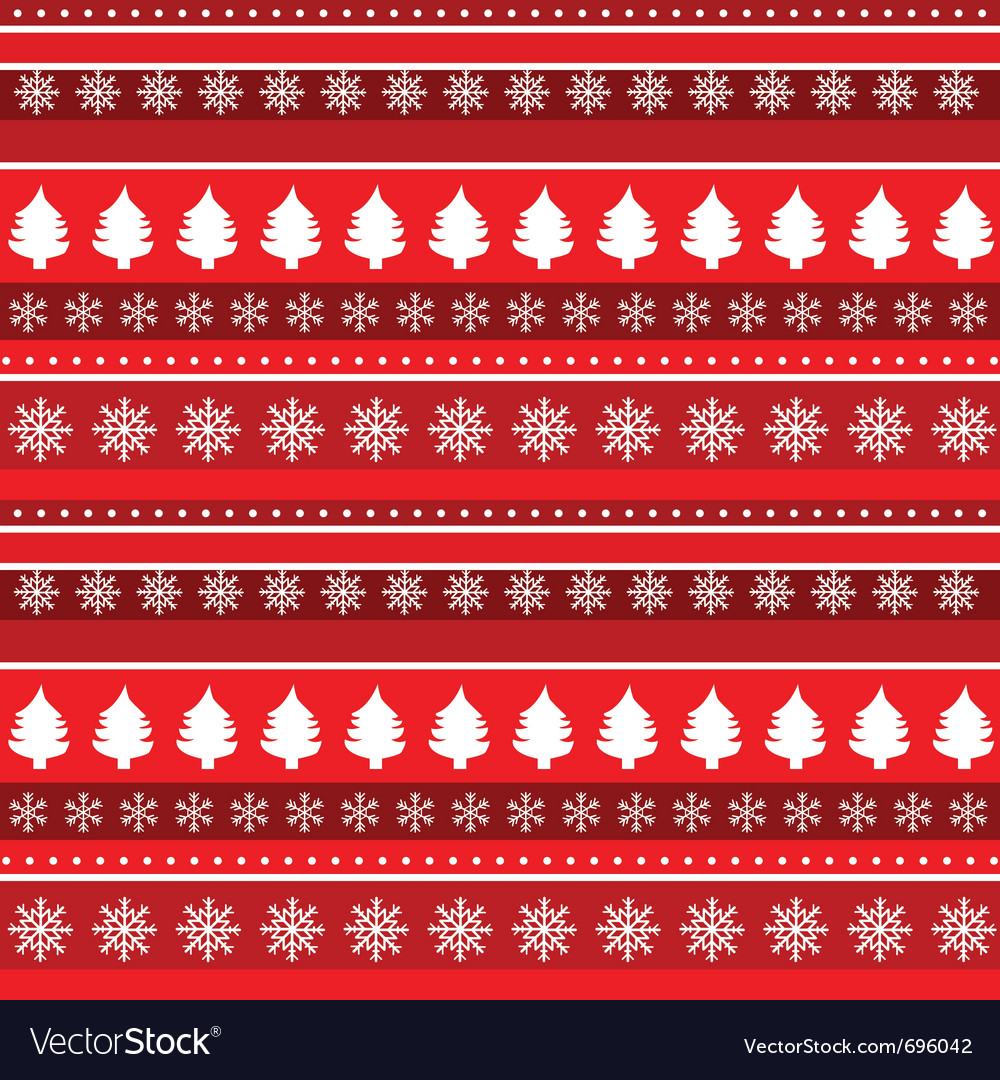 Trees and snowflakes vector | Price: 1 Credit (USD $1)
