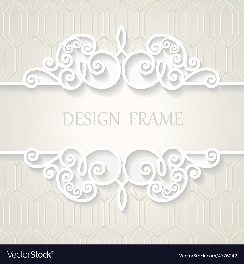 Vintage paper frame with shadow vector   Price: 1 Credit (USD $1)