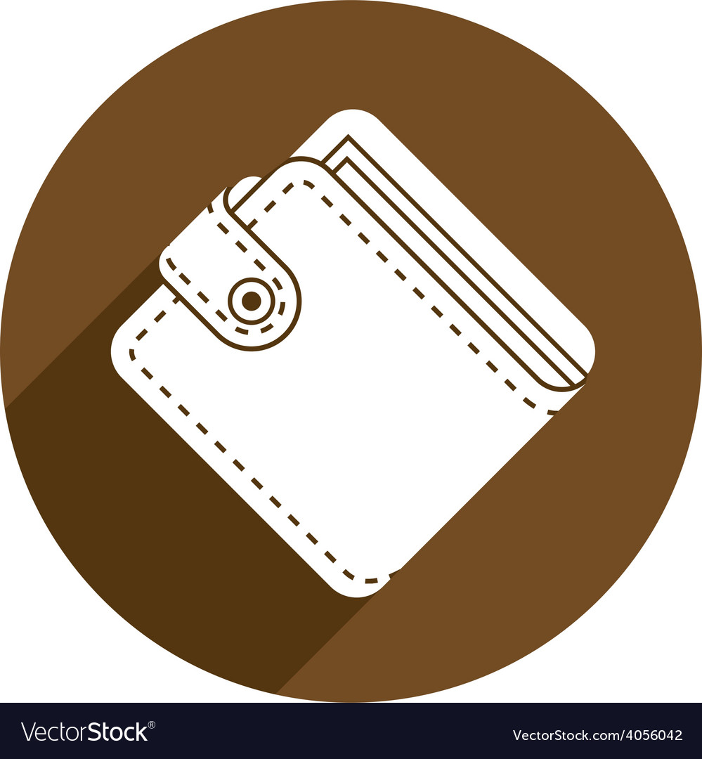 Wallet icon isolated vector | Price: 1 Credit (USD $1)