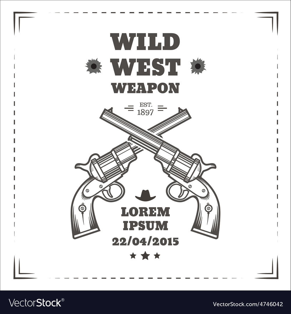 Wild west vector | Price: 1 Credit (USD $1)