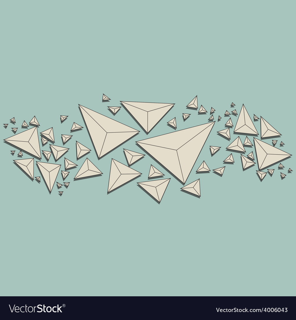Abstract polygon background white paper triangle vector | Price: 1 Credit (USD $1)