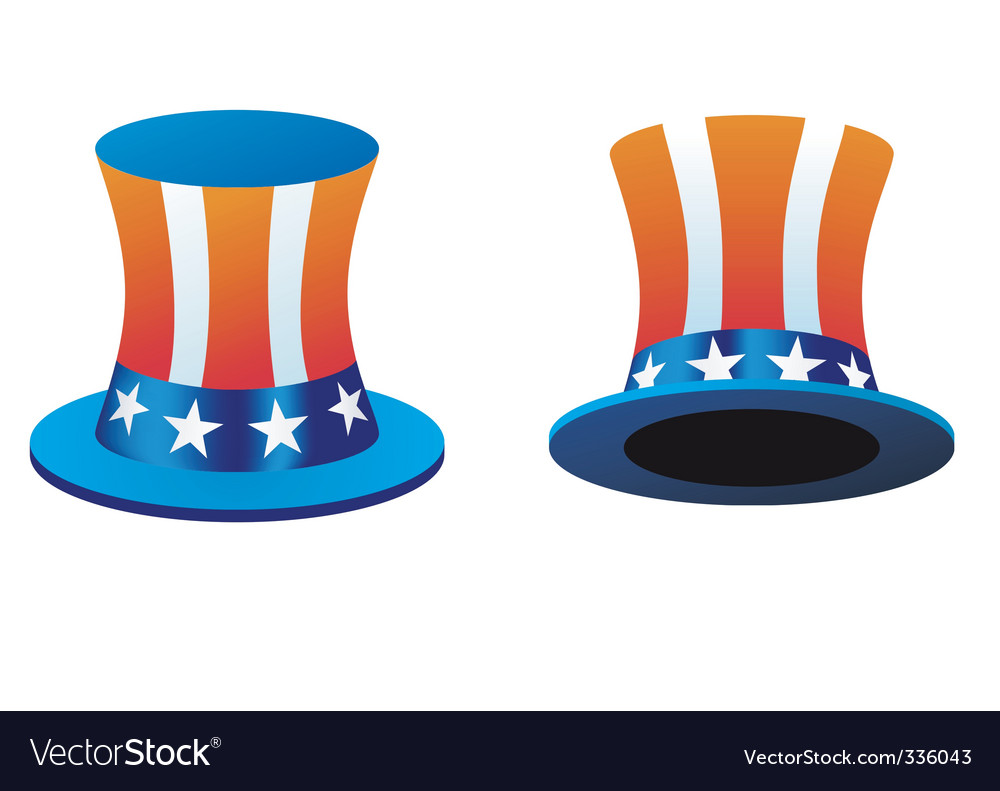 American hat vector | Price: 1 Credit (USD $1)