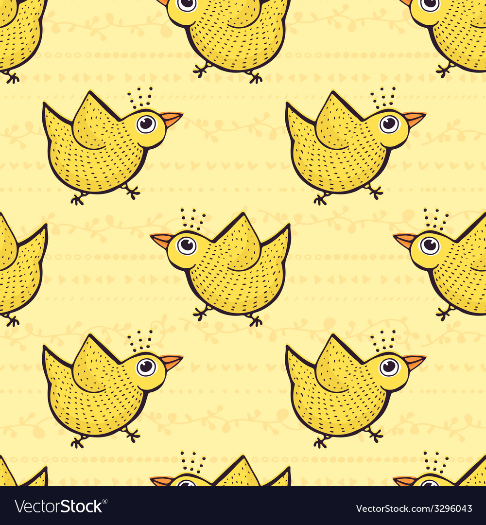 Bird pattern vector | Price: 1 Credit (USD $1)