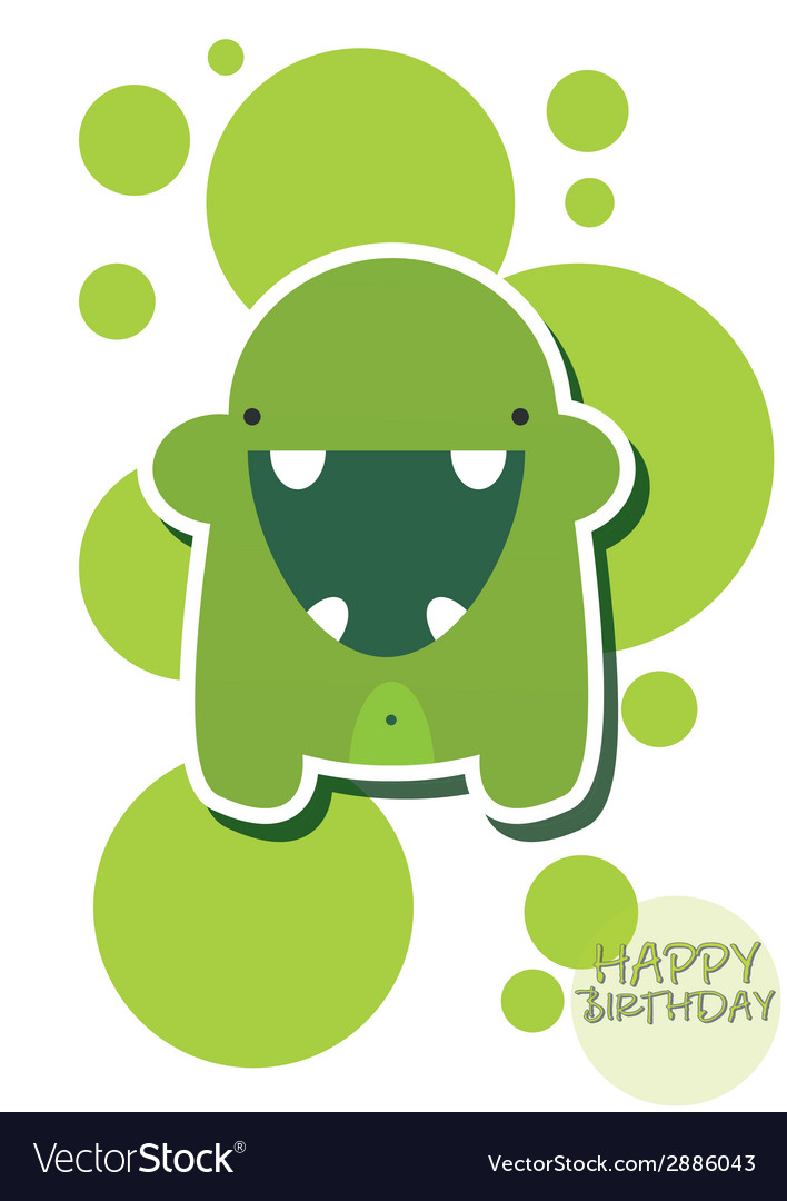 Cute colorful monsters vector | Price: 1 Credit (USD $1)