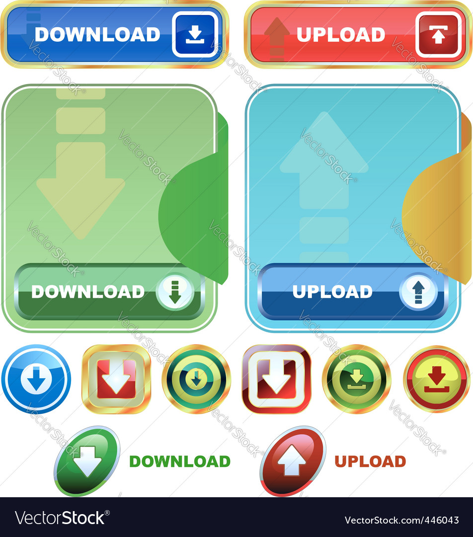 Download buttons vector | Price: 1 Credit (USD $1)