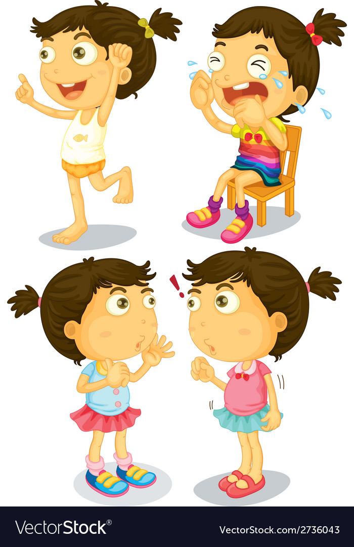 Girl actions vector   Price: 1 Credit (USD $1)