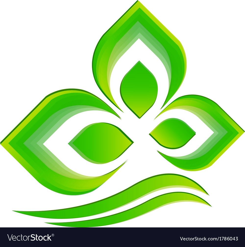 Leaf icon logo vector | Price: 1 Credit (USD $1)