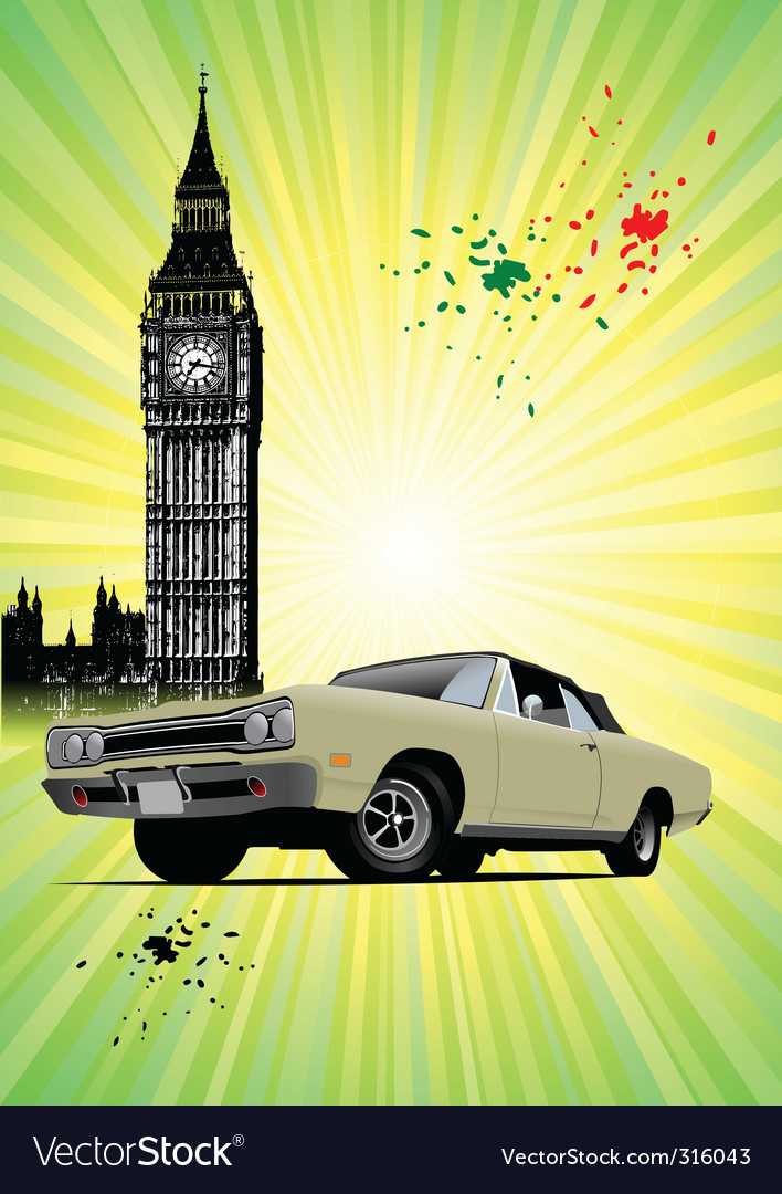 Old london vector | Price: 3 Credit (USD $3)