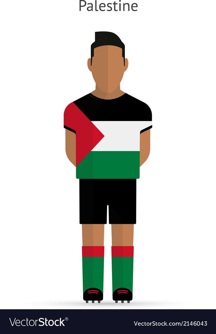 Palestine football player soccer uniform vector | Price: 1 Credit (USD $1)