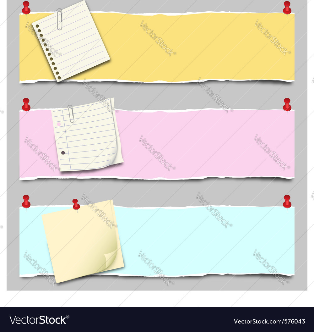 Paper banner set vector | Price: 1 Credit (USD $1)