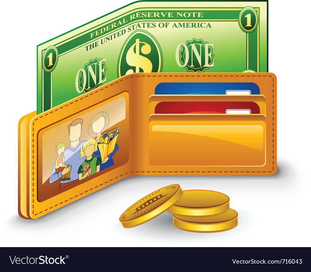 Wallet vector | Price: 3 Credit (USD $3)