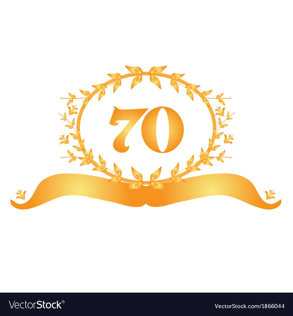 70th anniversary banner vector | Price: 1 Credit (USD $1)