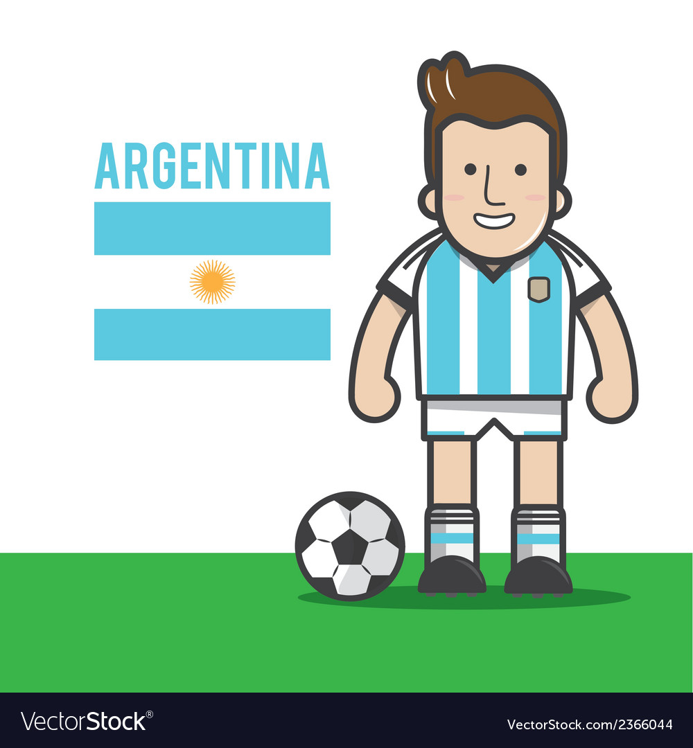 Argentina-soccer-player vector | Price: 1 Credit (USD $1)