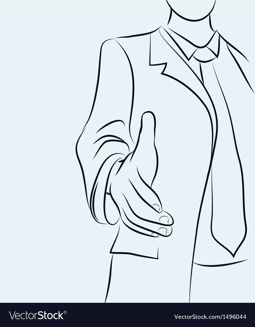 Businessman sketchy vector | Price: 1 Credit (USD $1)