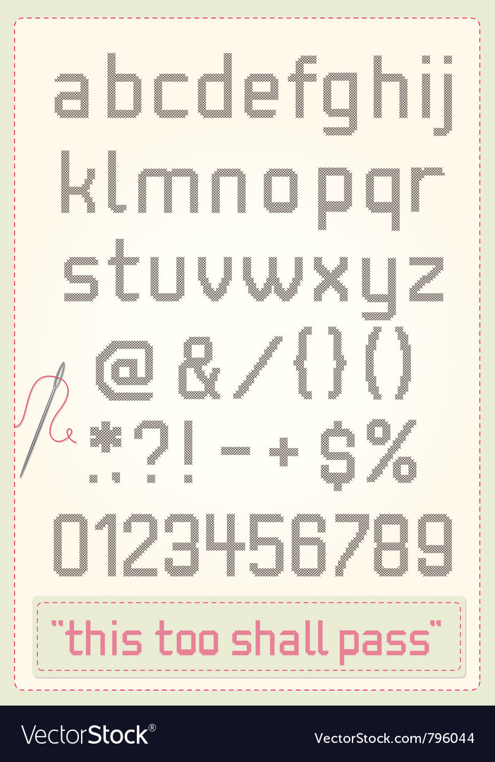 Cross stitch alphabet vector | Price: 1 Credit (USD $1)