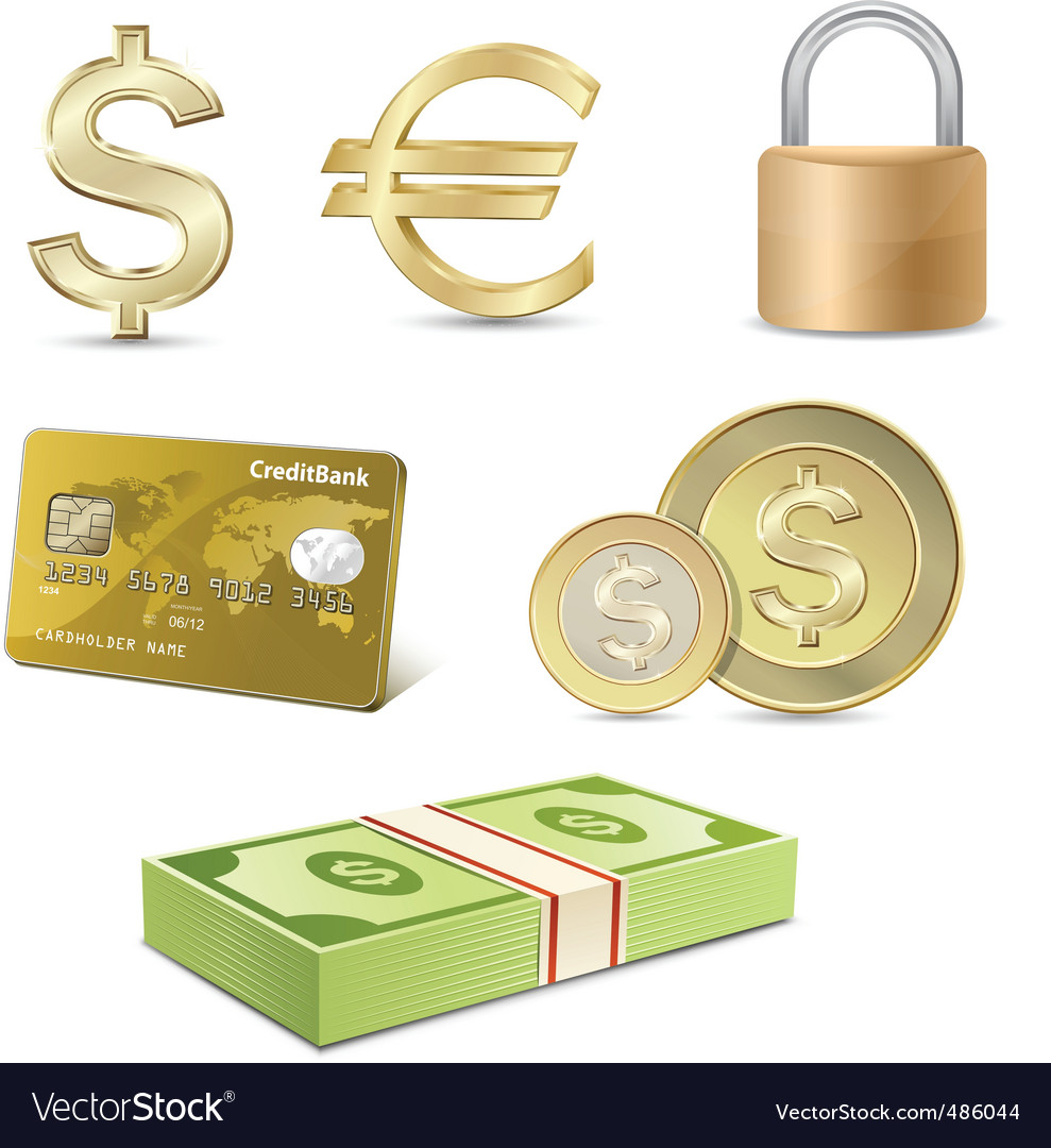 Dollar and euro signs vector | Price: 3 Credit (USD $3)