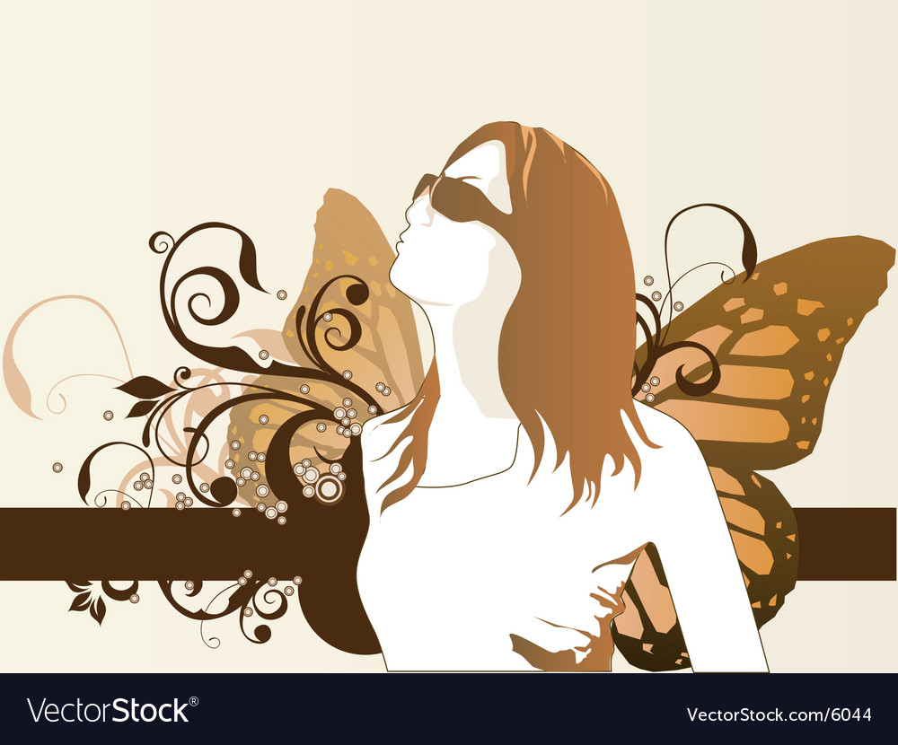Fashion model butterfly vector | Price: 3 Credit (USD $3)
