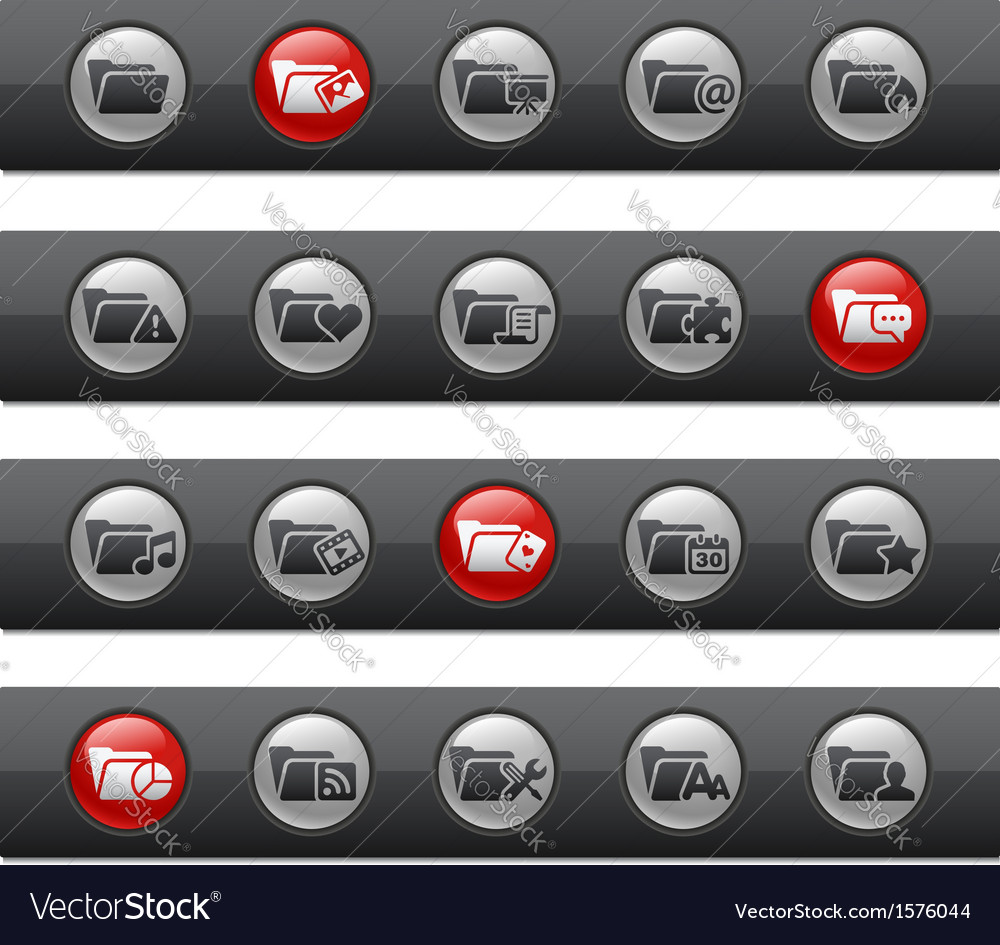 Folder 2 buttons vector | Price: 1 Credit (USD $1)
