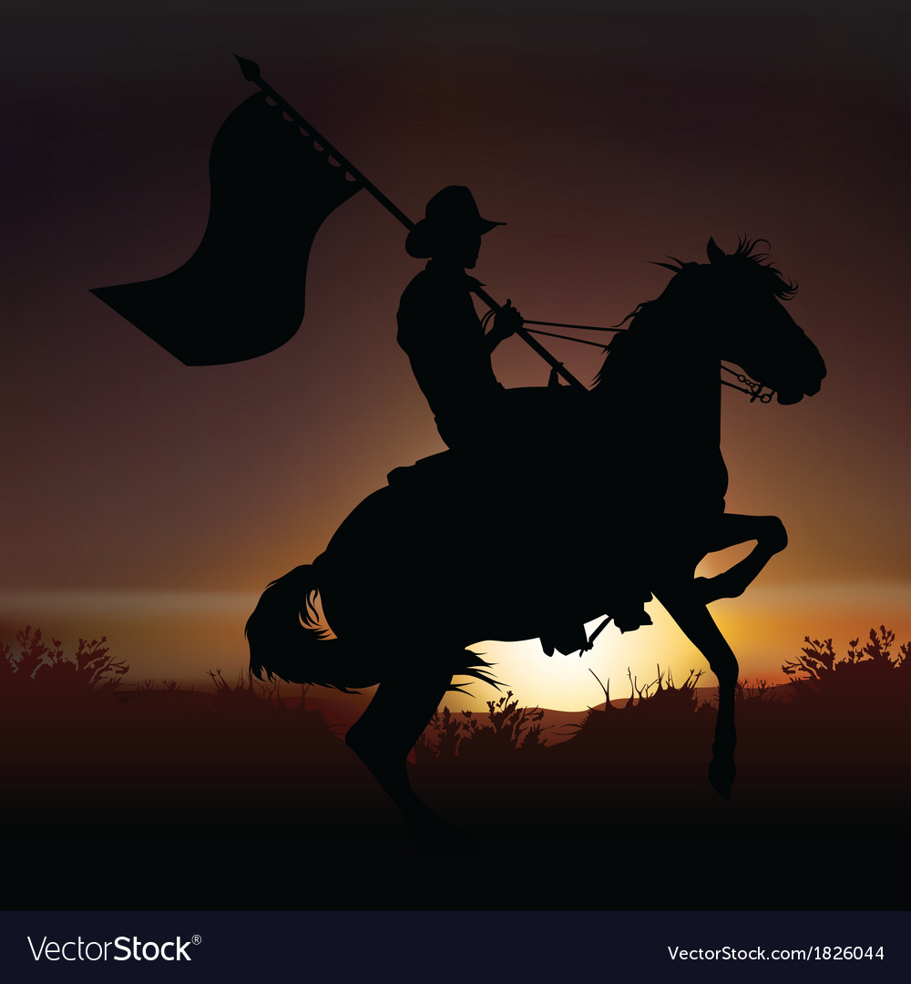 Horse and horseman vector | Price: 1 Credit (USD $1)