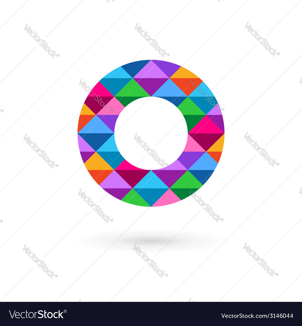 Letter o mosaic logo icon design template elements vector   Price: 1 Credit (USD $1)