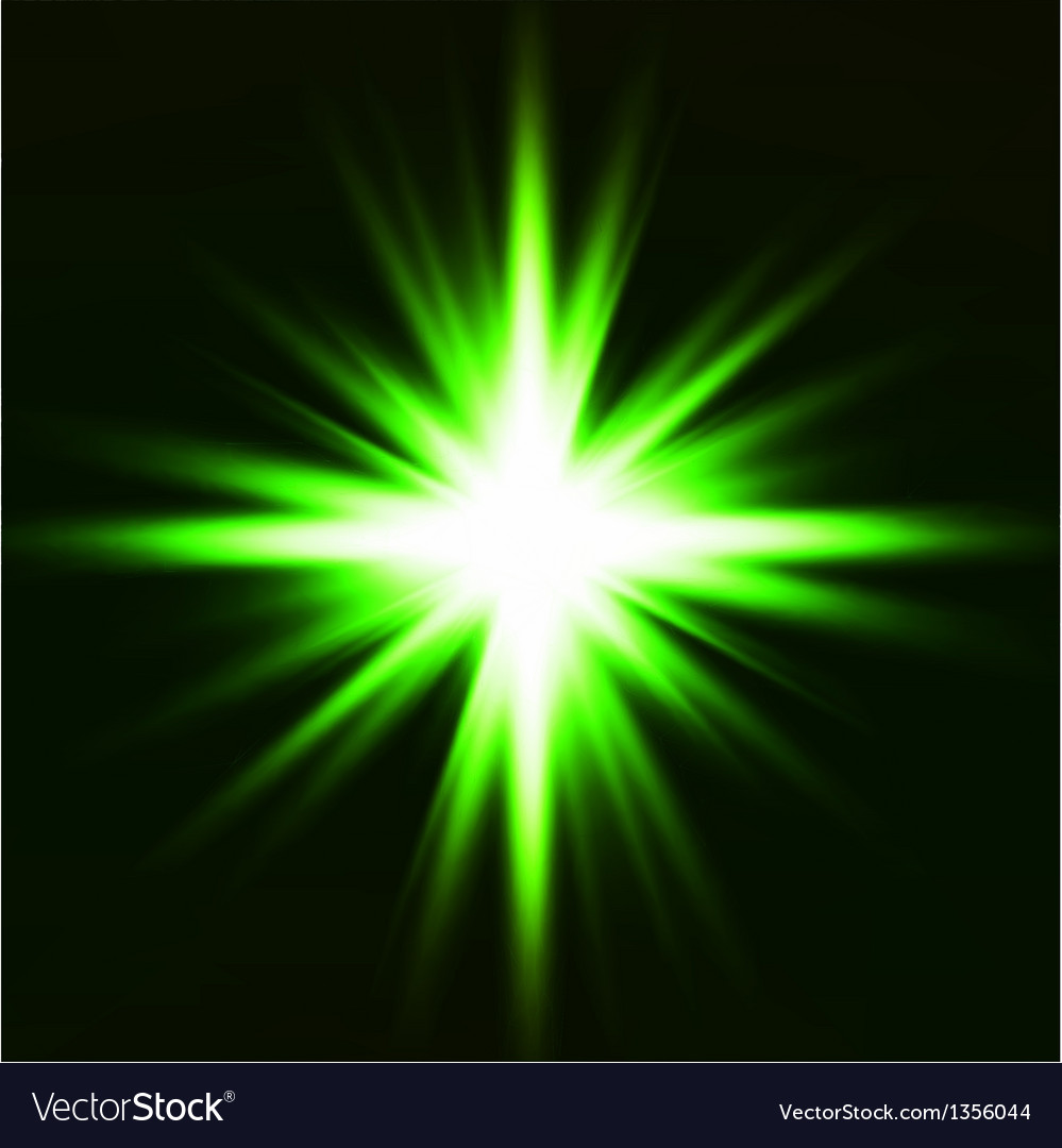 Light flare green effect vector | Price: 1 Credit (USD $1)
