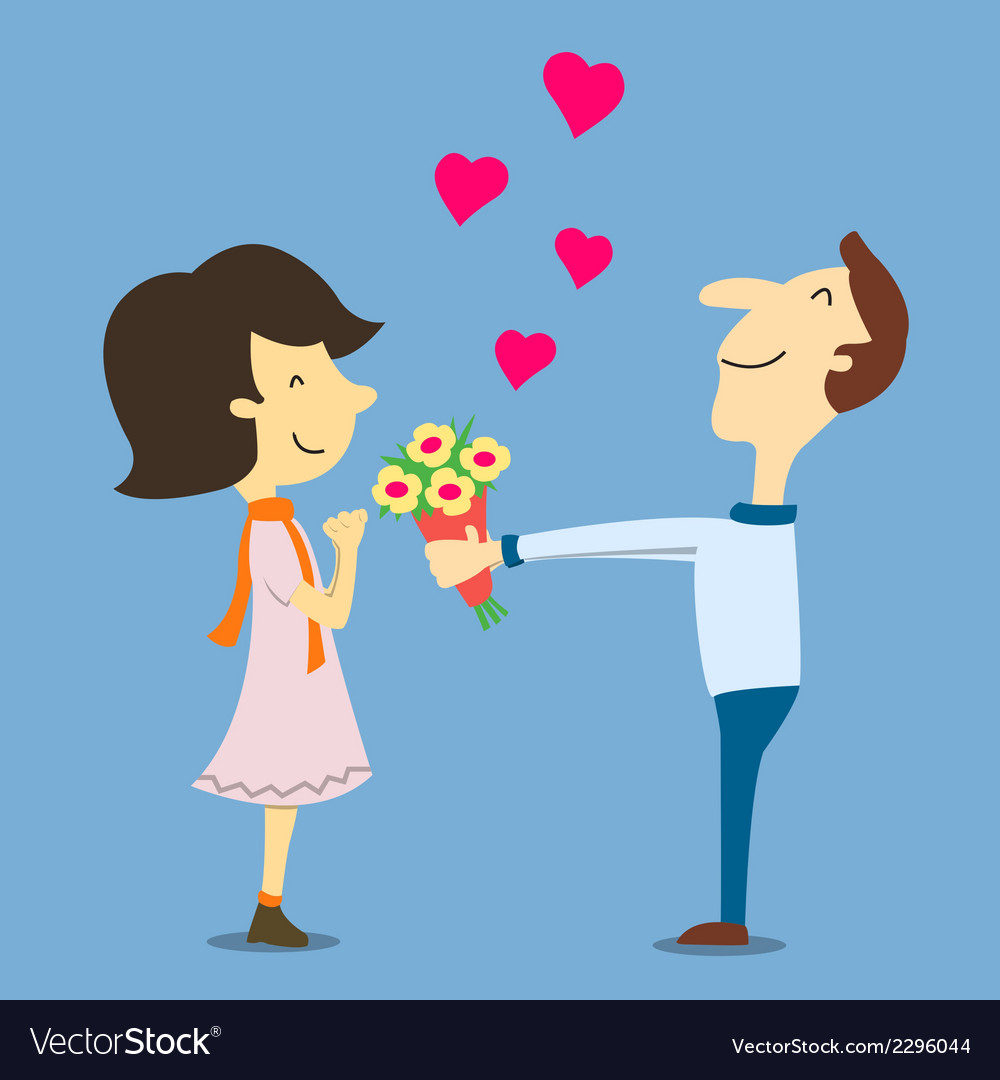 Lovegiveflower vector | Price: 1 Credit (USD $1)