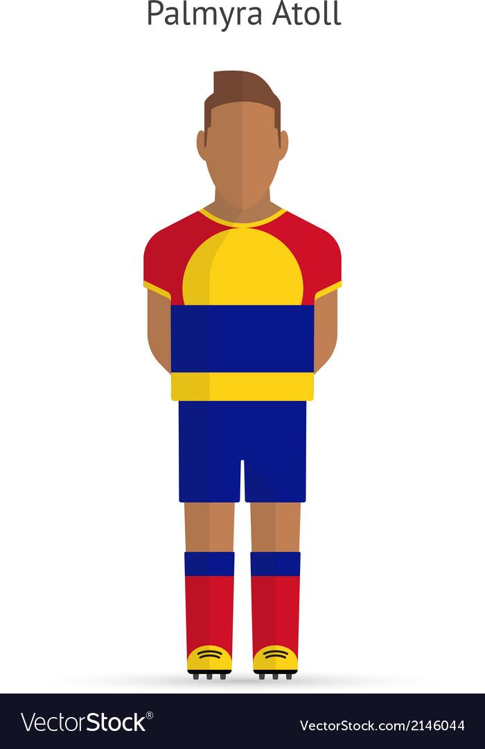 Palmyra atoll football player soccer uniform vector | Price: 1 Credit (USD $1)