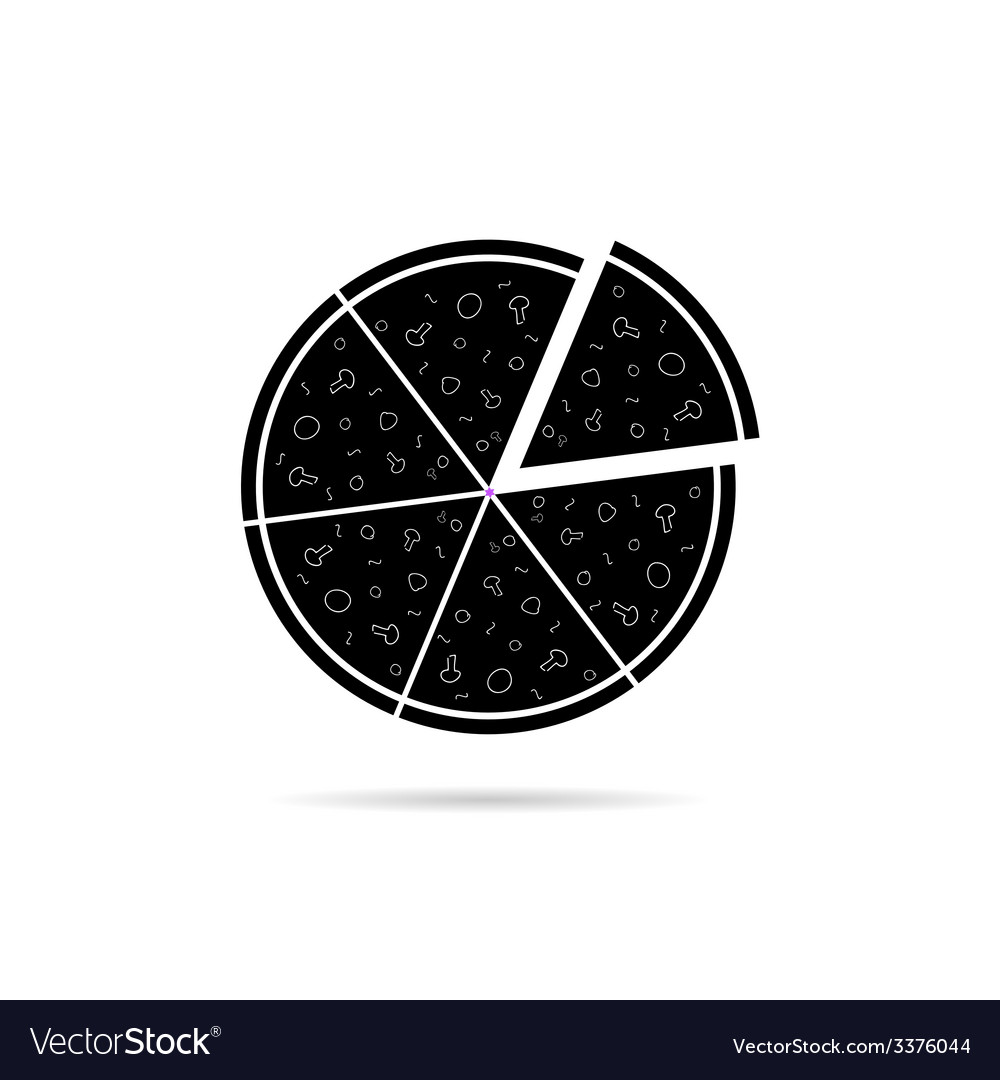 Pizza black icon vector | Price: 1 Credit (USD $1)