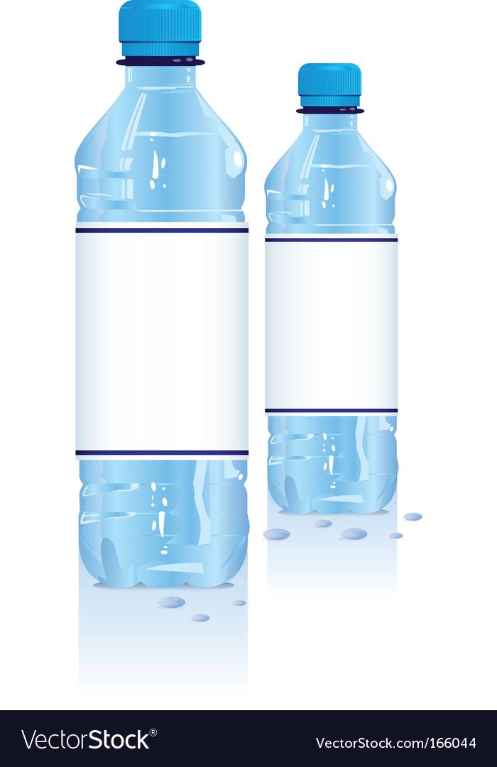 Plastic water bottles vector | Price: 1 Credit (USD $1)
