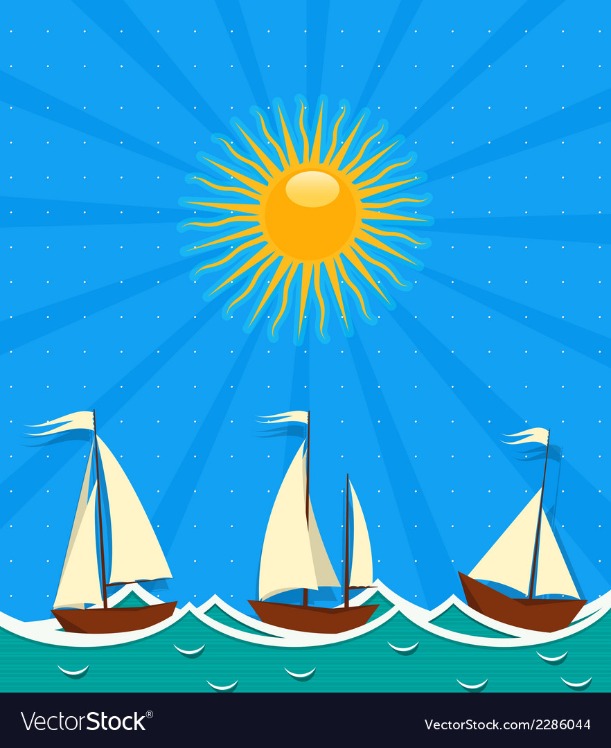 Seascape background vector | Price: 1 Credit (USD $1)