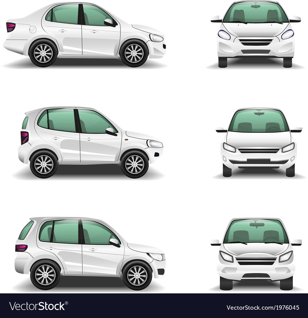 Cars side and front view vector | Price: 1 Credit (USD $1)