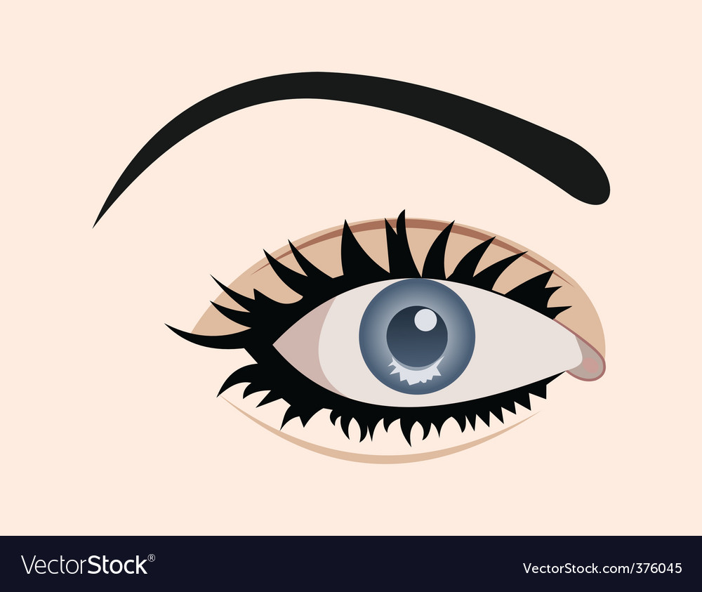 Close up eye isolated vector | Price: 1 Credit (USD $1)