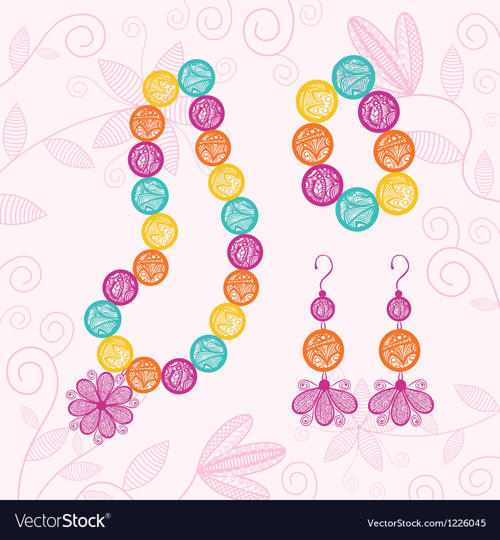 Costume jewellery vector | Price: 1 Credit (USD $1)