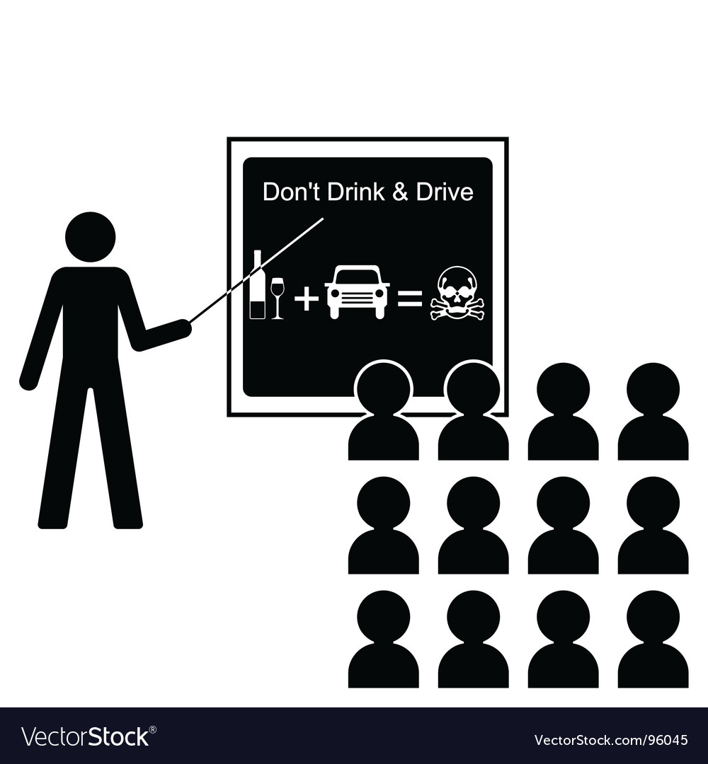 Drink drive lecture vector | Price: 1 Credit (USD $1)