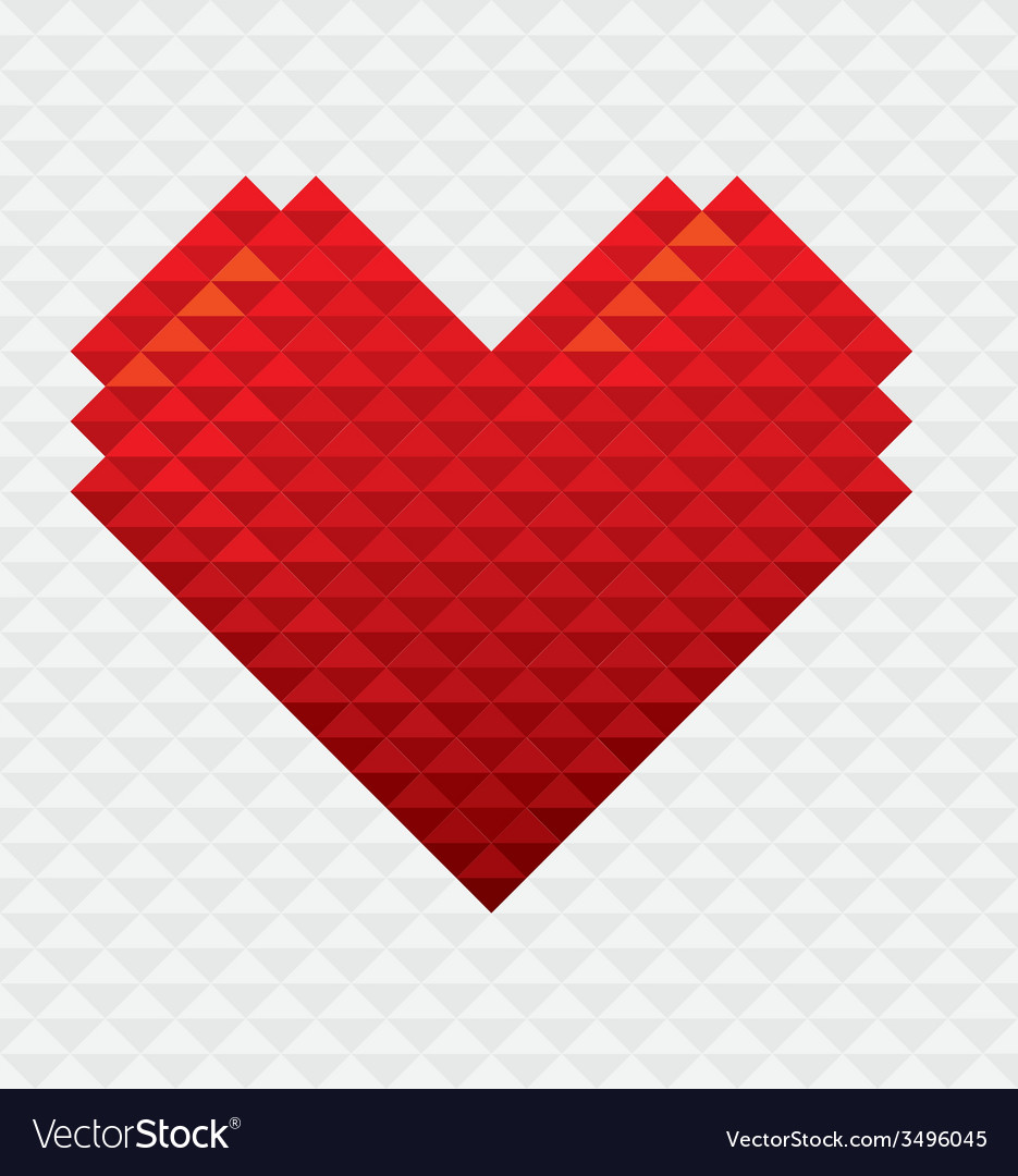 Heart shape mosaic style vector | Price: 1 Credit (USD $1)