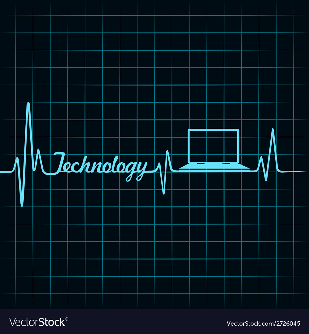 Medical technology concept -heartbeat with laptop vector   Price: 1 Credit (USD $1)
