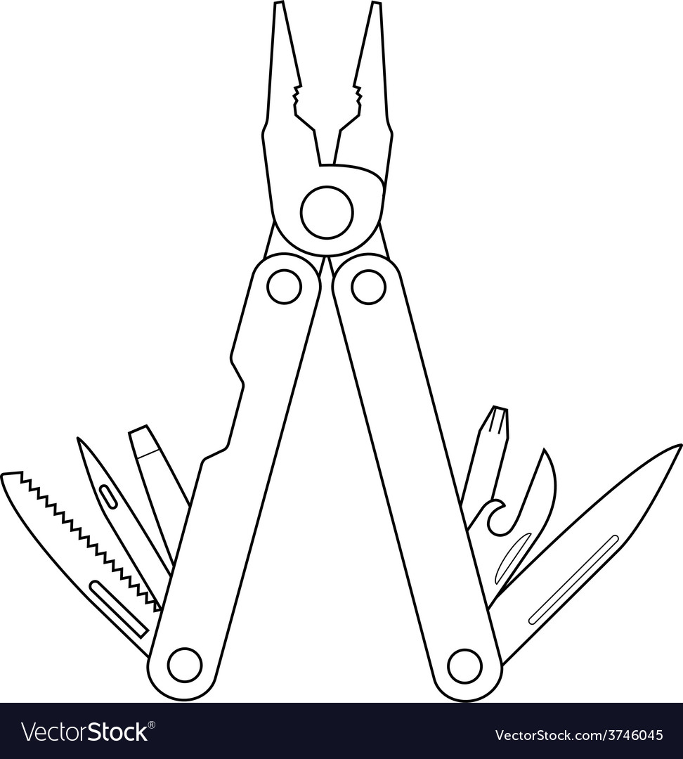 Pocket multitool contour vector