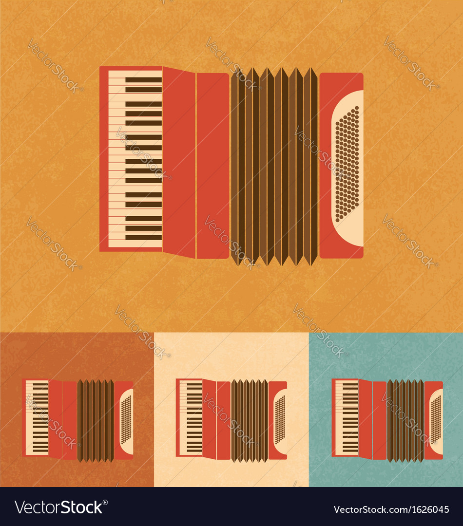 Retro accordion vector | Price: 1 Credit (USD $1)