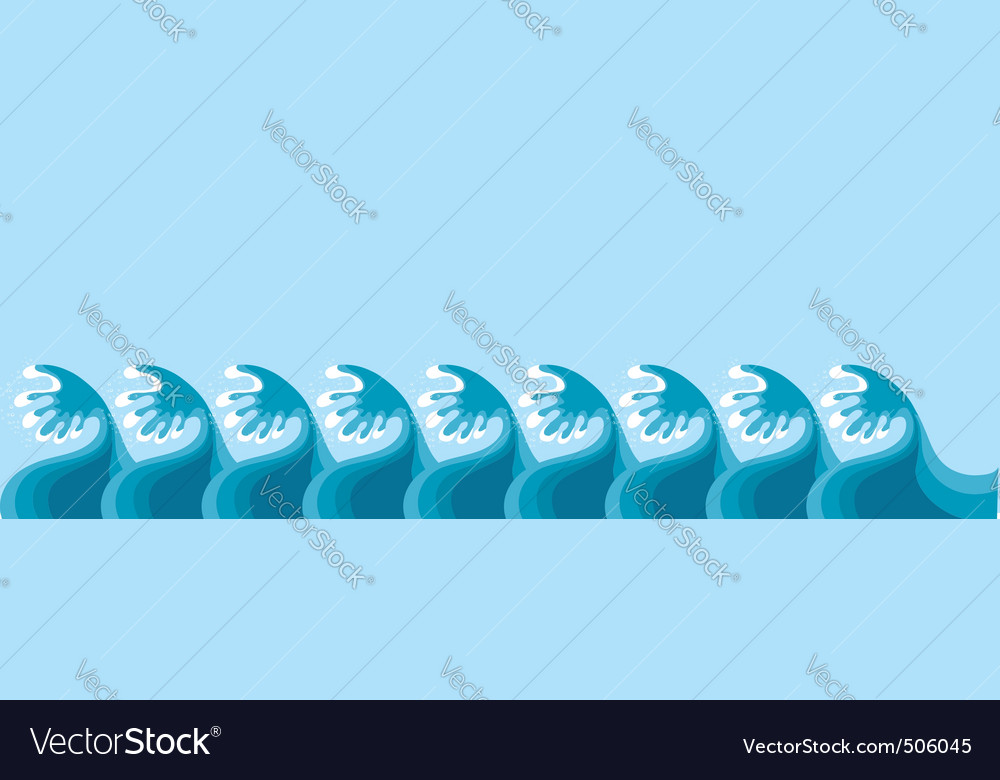Vector sea decoration on blue for design vector | Price: 1 Credit (USD $1)