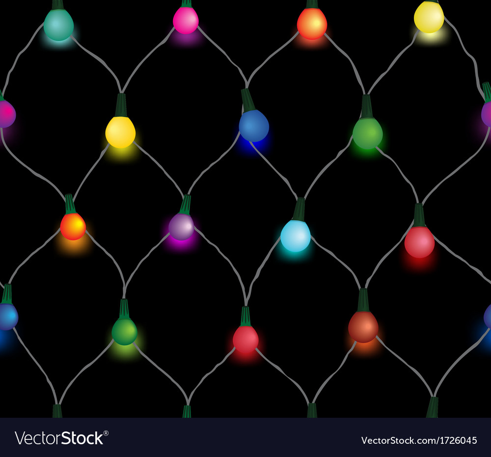 Seamless string of christmas lights vector | Price: 1 Credit (USD $1)
