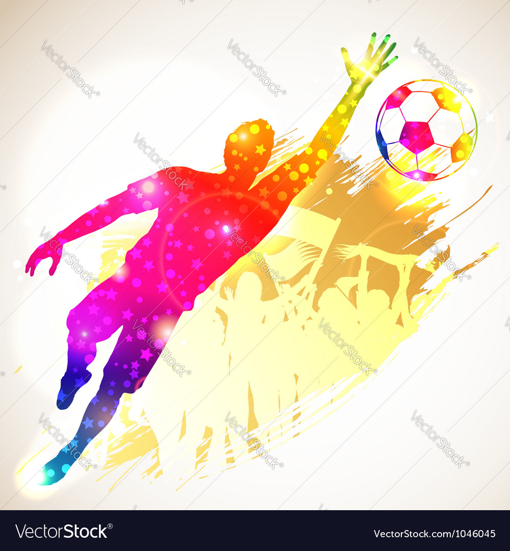 Soccer goalkeeper vector | Price: 1 Credit (USD $1)